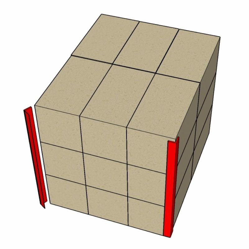 Vollpappkantenschutzwinkel_Kartonstapel