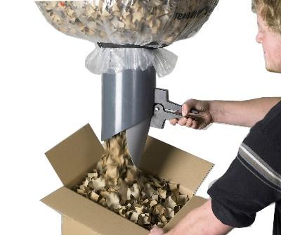 (Abfülltechnik für Styroporchips)