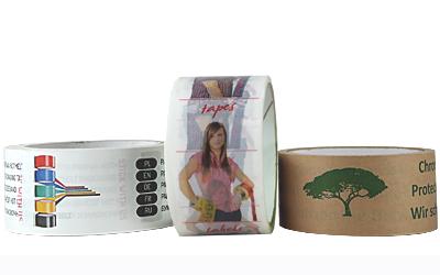Verpackungsmaterial mit Werbedruck